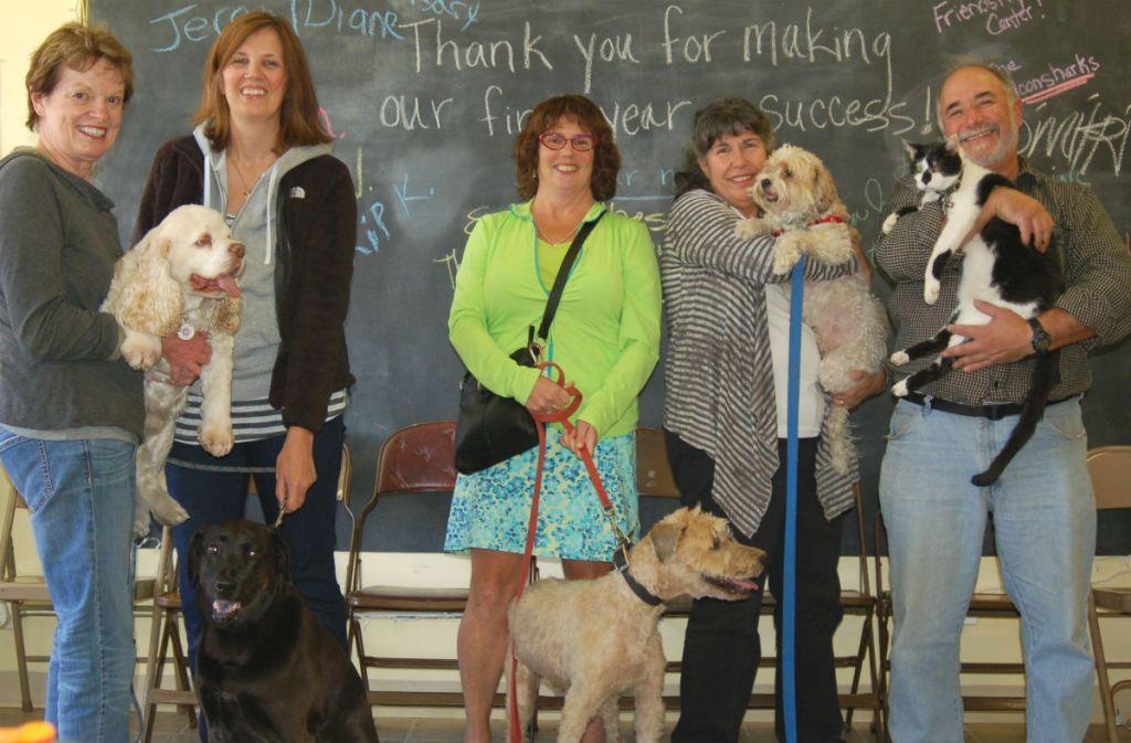 Volunteers gather at Friendship Pet Food Pantry