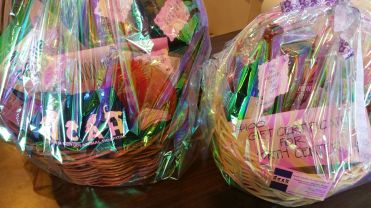 North Center Animal Hospital gift baskets / For the Love of Pets 2015